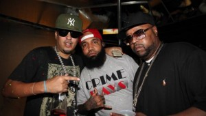 French-Montana-Tone-Trump-Dj-Kay-Slay-at-DJ-KaySlays-Straight-Stuntin-Magazine-party-at-Sues-Rendezvous-on-October-11-2011